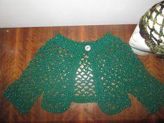 Girl's 12-14 Green Mesh Bolero Crocheted by SuzannesStitches, Girl's 14Green Shrug, Women's 12 Green Bolero, Teen 7/8 Green Bolero, Shrugs by SuzannesStitches on Etsy