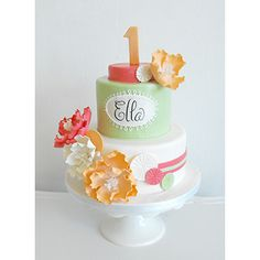 a sweet cake for a girl's 1st Birthday, Anna Elizabeth Cakes