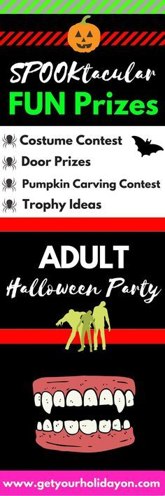 Are you looking for Halloween Party ideas? Here you will find costume contest prize ideas, door prizes, pumpkin carving contest give aways, trophy ideas, small trinkets, party favors, and gifts. www.getyourholidayon.com
