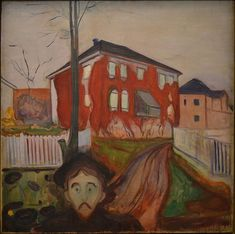 Edvard Munch, Rød villvin - paintings by Edvard Munch - Wikimedia Commons Edvard Munch, Park Landscape, Beach Landscape, List Of Paintings, Virginia Creeper, Google Art Project, Female Portrait, Modern Man, Art Google