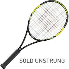 Wilson Steam 105S Tennis Racquet, Black