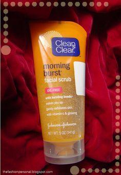 Clean and Clear Face Scrub    http://thefashionpersonal.blogspot.com/2013/02/clean-clear-morning-burst-facial-scrub.html