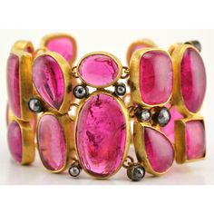 Pamela Huizenga pink tourmaline and diamond bracelet