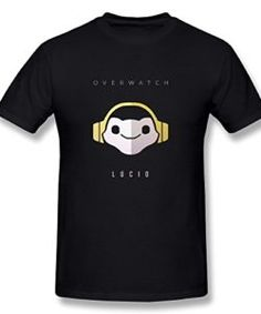 Hsuail-Mens-Overwatch-Game-Logo-Lucio-T-Shirt-Black-US-Size-L-0