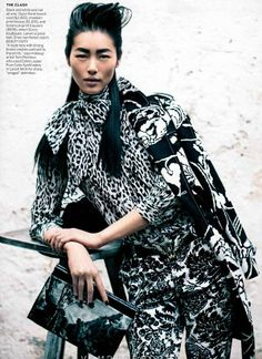 Quixotically Patterned Editorials - Vision Quest by Peter Lindbergh for Vogue Us March 2012 (GALLERY)