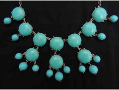 Fashion Necklace and Matching Teal Earrings