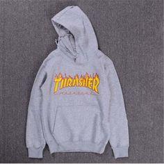 Thrasher Hoodie Men Streetwear Tracksuit Moletom Skate Sudaderas Mens hoodies and sweatshirt magazine skateboard trasher jumper - 2019 Cute Lazy Outfits, Cool Outfits, Thrasher Outfit, Trendy Hoodies, Teenager Outfits, Hooded Sweatshirts, Men's Hoodies, Sweater Hoodie, Ideias Fashion