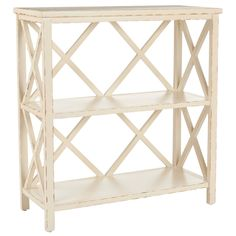 Liam Distressed Ivory Bookcase. #laylagrayce #bookcase #new