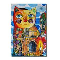 dreidel cat Postcards (Package of 8)