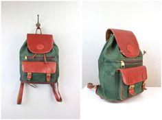 Vintage Leather Henry Backpack, $75.00  #leather #vintage #vintagebag #vintagebackpack #vintagestyle #fashion