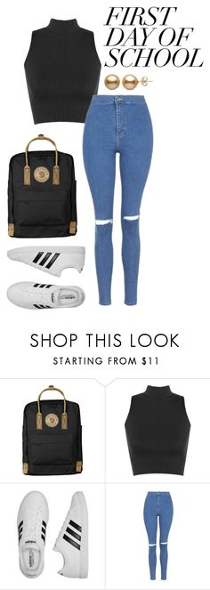 """""""college"""" by joannachavez8 on Polyvore featuring Fjällräven, WearAll, adidas and Topshop"""
