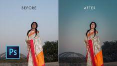 Photoshop cc Tutorial : Outdoor Portrait Retouching | Dusk effect portrait