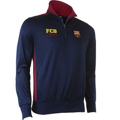 Sweat demi zippéa BARCA - Collection officielle Fc Barcelone - Taille adulte homme. #fc_barcelone #team_fc_barcelone #foot #football #supporter_attitude #football_attitude #sport_attitude #sport #sweat