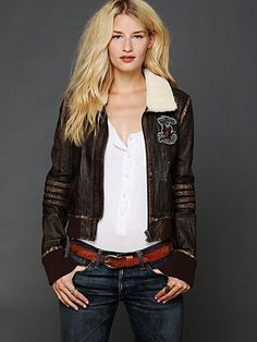 Distressed Bomber Jacket - I've been on the hunt for a good one for a few years now