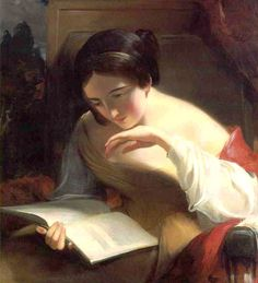 Thomas Sully - Girl Reading.