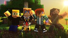 Minecraft, Leozandar, Frigiel, Siphano et Zelvac