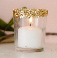 diy glitter votive #diy #holidays