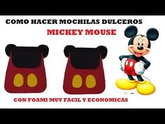 COMO HACER MOCHILITA DE MICKEY MOUSE dulcero para niños