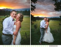 Sweetness and Sunsets :: Sarah and Matt's Double Arrow Resort Wedding in Seeley Lake, Montana - Photos by Kristine Paulsen Photography