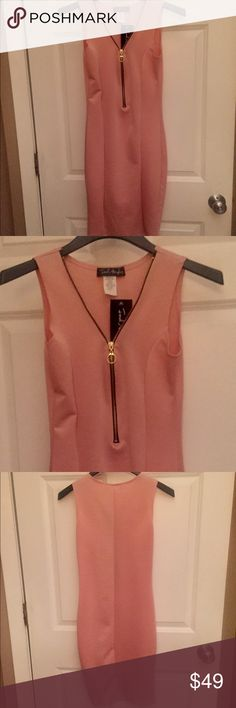 Pretty Peach 🍑 Cute Fitted Dress 👗 sz Small New Pretty Peach 🍑 Cute Fitted Dress 👗 sz Small New!!! Dresses Strapless