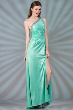 PRIMA C135234 One Shoulder Cut Out Prom Dress