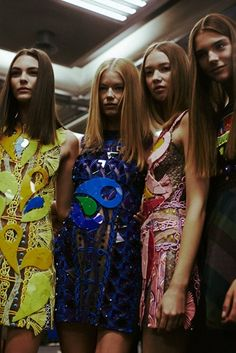 Backstage at Peter Pilotto SS15