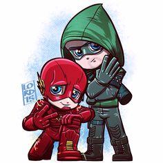 Fan art of 'The ⚡️⚡️ Flash' and 'Green Arrow' Supergirl Dc, Supergirl And Flash, Marvel Dc, Marvel Comics, The Flash Season 2, Season 4, Lord Mesa Art, Flash Drawing, The Flash Grant Gustin