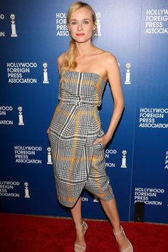 Best Dressed of the Week - 08/16/13 | Hollywood Foreign Press Association Lunch, LA – August 13 2013 - Diane Kruger wore a dress from Carven's pre-spring/summer 2014 collection with Stuart Weitzman sandals.