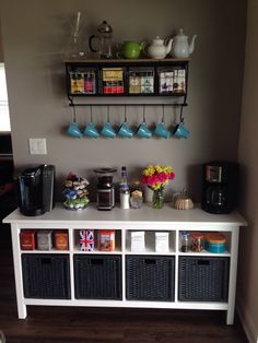 I've been dreaming of one of these for over a year and this weekend it finally happened...a coffee and tea bar! : tea
