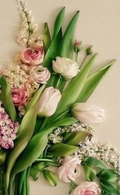 Картины цветов ручной работы. Ярмарка Мастеров - ручная работа Весенние цветы. Handmade.: