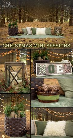 Holiday and Christmas Minis Photography Sessions in the woods. Christmas photo shoot featuring a charming enchanted forest theme with twinkling Christmas lights. Images are copyright of Bailey Warren (Diy Photo Shoot) Christmas Picture Background, Christmas Background Photography, Christmas Photo Props, Christmas Backdrops, Christmas Minis, Christmas Lights, Christmas Mini Sessions, Christmas Photoshoot Ideas, Christmas Photo Booth Backdrop