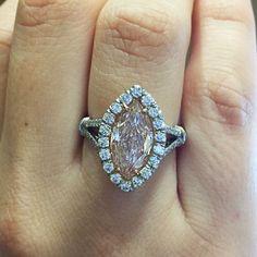 Fancy Light Pink Diamond Engagement Ring