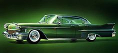 1958 Cadillac Sedan - Promotional Advertising Poster