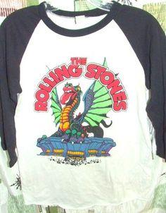 Rolling Stones 1981 TOUR T SHIRT Tee Vintage ORIGINAL Ringer baseball tshirt S