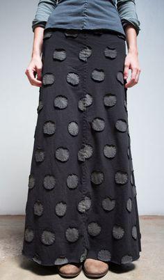 Alabama Chanin - Large Polka Dots Long Skirt