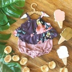 Purple Floral Top and Bloomer Floral Tops, Purple, Fashion, Moda, Top Flowers, Fashion Styles, Fashion Illustrations, Viola