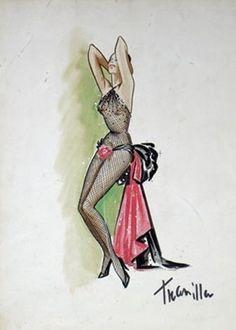 Sketch by William Travilla