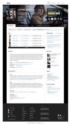 This Beautiful IMDb Redesign Concept Is Long Overdue Video Advertising, Advertising Design, Free Music Websites, Movie Websites, Music Website Templates, Database Design, Internet Movies, Profile Design, Showcase Design