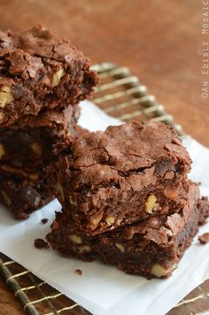The Best Chewy Brownies Recipe #baking #dessert #chocolate