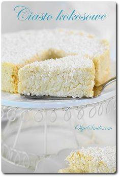 Jaglane ciasto kokosowe bez pieczenia Sweet Recipes, Healthy Recipes, Something Sweet, Cooking Time, Vanilla Cake, Recipies, Deserts, Good Food, Food And Drink