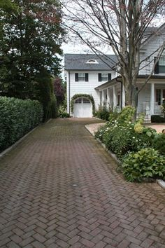 fritz & gignoux - love the herringbone brick driveway - gorgeous!