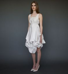 Lovely Short Wedding Dress in Ivory Casual Wedding by ElikaInLove