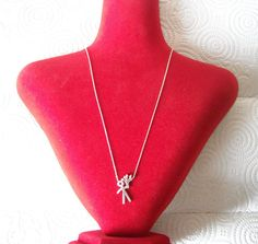 925 Sterling Silver Zirconia Necklace Romeo with by AfillyDsign, $34.90