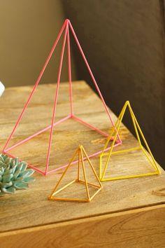 Geometric Sculpture DIY  BETTER THAN STRAWS