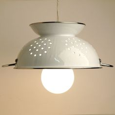 What a perfect lamp for a kitchen, and it could be a fun DIY project as well!