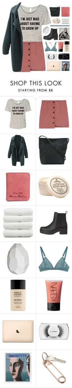 """""""this tee is me af"""" by hhuricane ❤ liked on Polyvore featuring Rick Owens, Linum Home Textiles, CB2, The Nude Label, MAKE UP FOR EVER, NARS Cosmetics, MAC Cosmetics, teesandtankyou and taty"""
