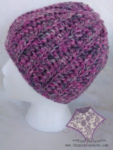 Easy HDC Beanie Free pattern from thepurpleponcho.com...Nice Blending of Colors!**