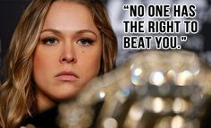 No one has the right to beat you