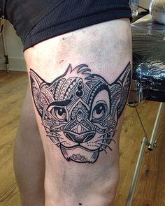 "62 Likes, 4 Comments - Bel Cru (@r3el) on Instagram: ""Tattoo done..✏️ #simba #simbatattoo #disney #disneytattoo #tattoodisney #elreydelaselva #mandala…"""
