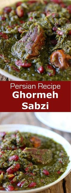 Ghormeh sabzi is a delicious tangy and citrusy herb and meat stew, served over Persian steamed rice, and often considered the national dish of Iran.